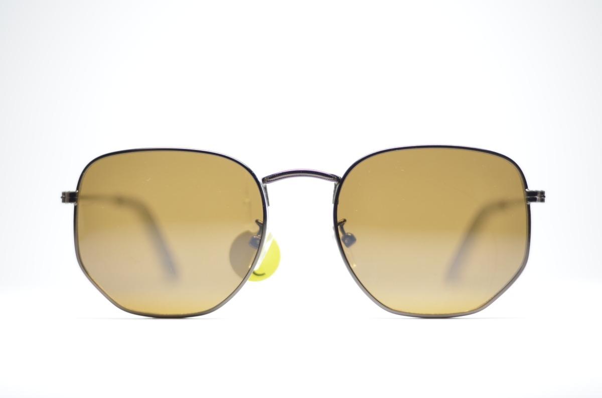 91e28a4b3ffc0 óculos de sol marron octagonal grande redondo com proteção. Carregando zoom.