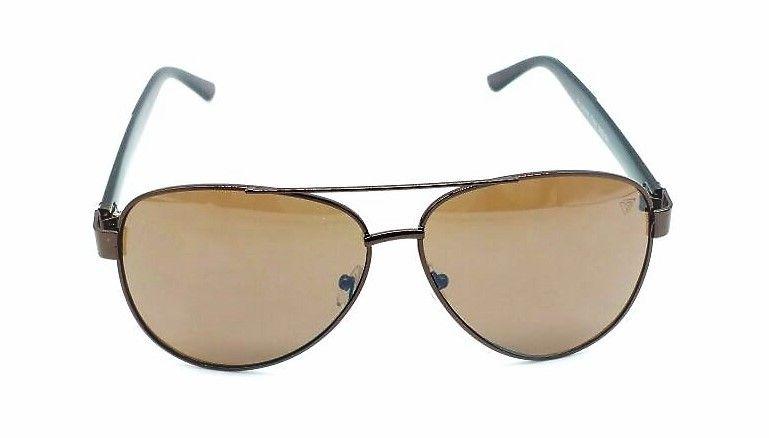 7d8b68223a66e Óculos De Sol Mas Vezatto Aviador Metal Preto Ly12004 C5 - R  139,90 em  Mercado Livre