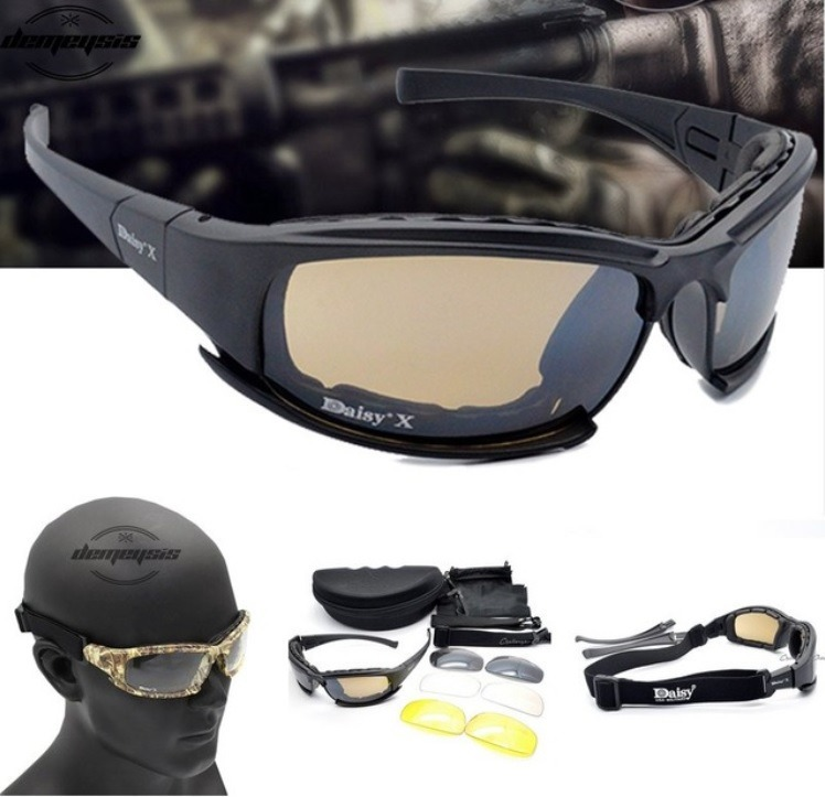 Óculos De Sol Masculino Airsoft Militar Daisy X7 Tático - R  120,77 ... 7e9f36d932
