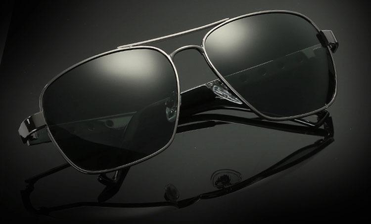 8adeda60f Óculos De Sol Masculino Armação De Metal Lentes Fumê - R$ 121,90 em ...