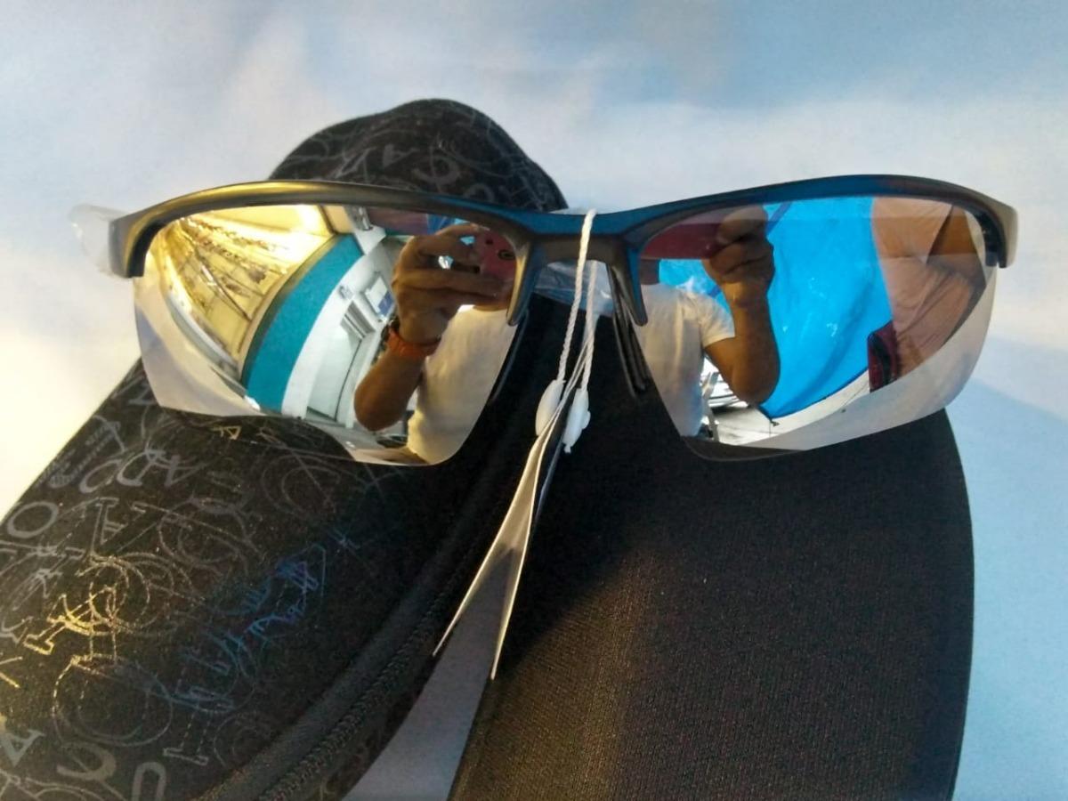 Óculos De Sol Masculino Armação Preta Lente Espelhada - R  189,99 em  Mercado Livre 05bc587228