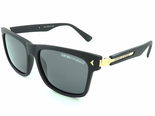 438ed6a3259d5 Óculos De Sol Masculino Armani Preto Com Dourado Polarizado - R  49 ...