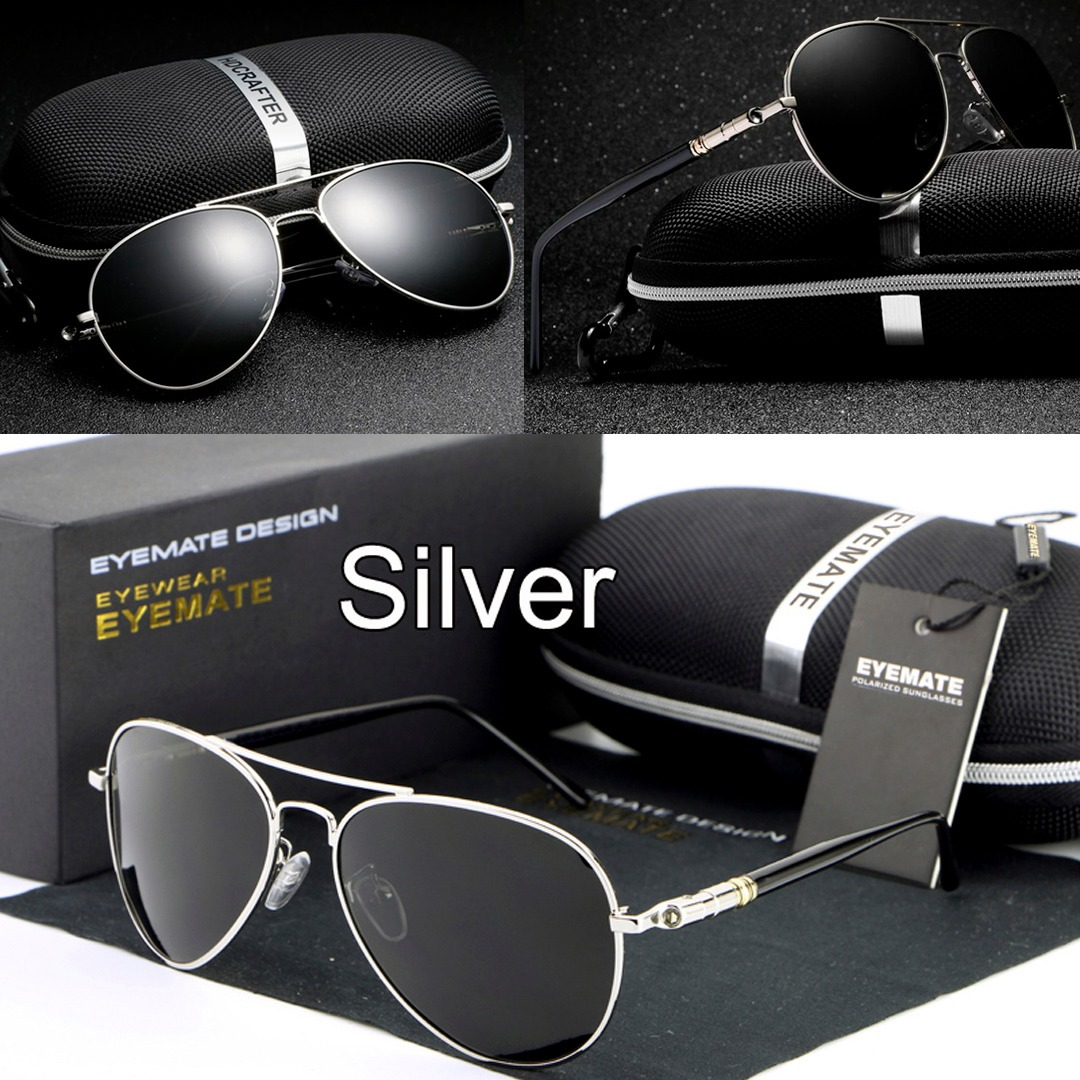óculos de sol masculino aviador 100% lentes polarizado 3032. Carregando  zoom. 74d31b01d2