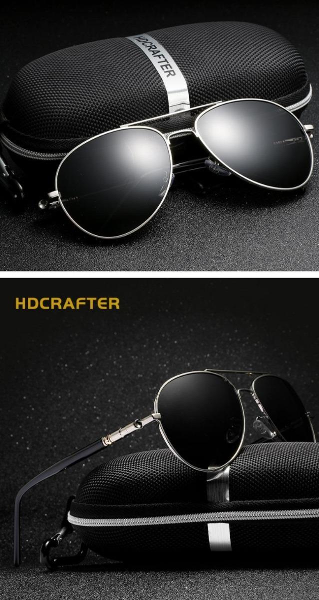 óculos de sol masculino aviador 100% lentes polarizado!! Carregando zoom. e760f09be5