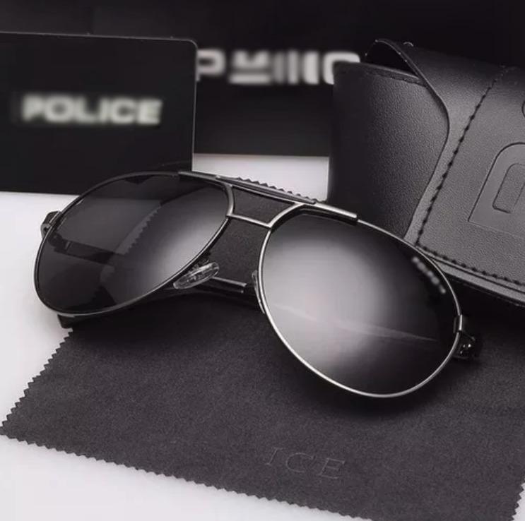 Óculos De Sol Masculino Aviador Polarizado 100%uva Uvb Cinza - R  159,77 em  Mercado Livre e85803000a