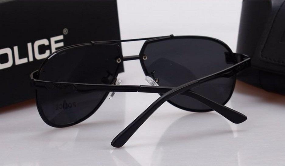 óculos de sol masculino aviador polarizado proteção uva uvb. Carregando  zoom. 755f32d540