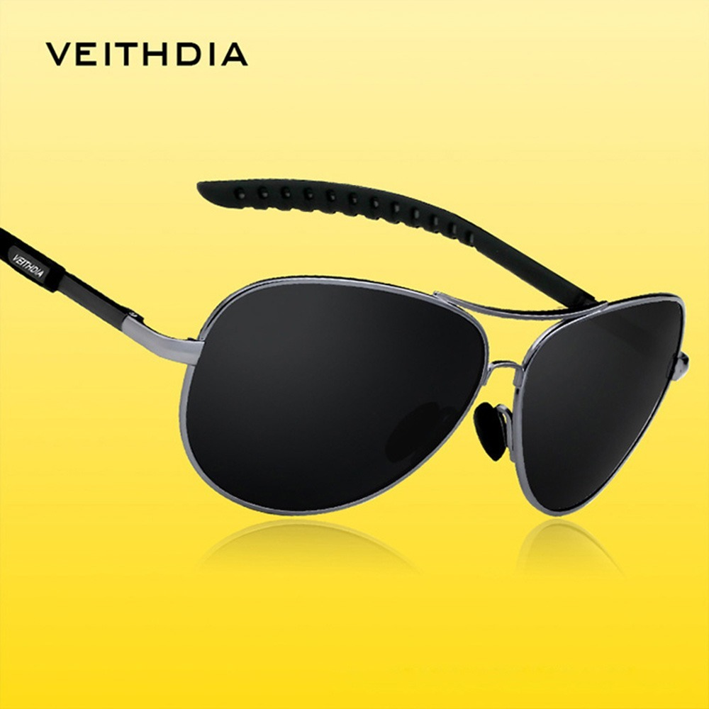 óculos de sol masculino aviador polarizado veithdia original. Carregando  zoom. 251ab3d1f1