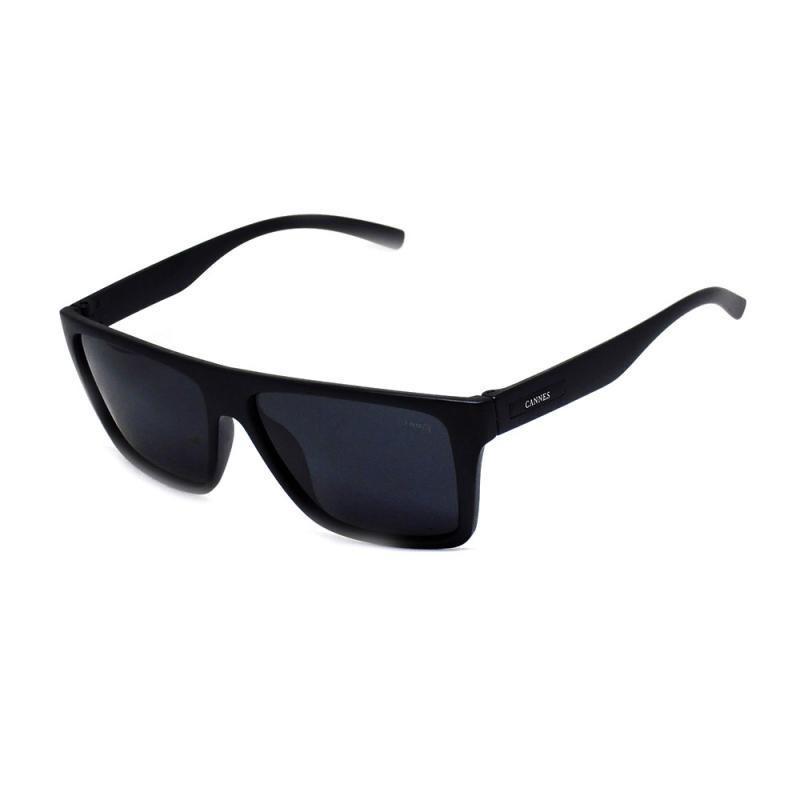 298692620 Óculos De Sol Masculino Cannes 90117 T U Preto Lentes Cinzas - R ...
