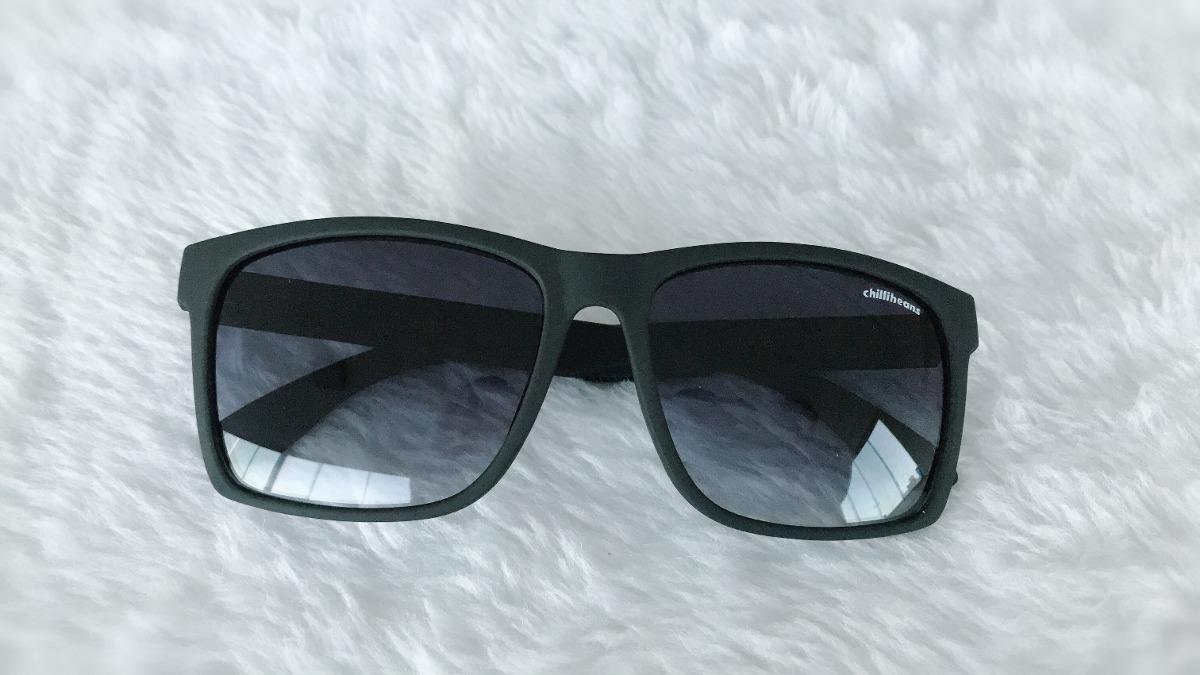 2fe1a056e1a12 óculos de sol masculino chillibeans quadrado preto fosco. Carregando zoom.