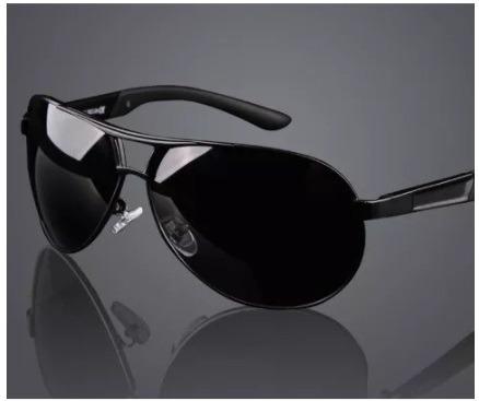 Óculos De Sol Masculino Escuro Polarizado Preto Estilo Luxo - R  116 ... 3ac35020b0