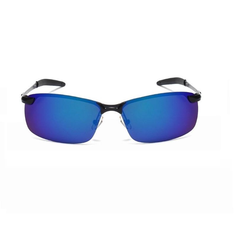 ae84c5da42264 óculos de sol masculino espelhado azul aviador polarizado. Carregando zoom.