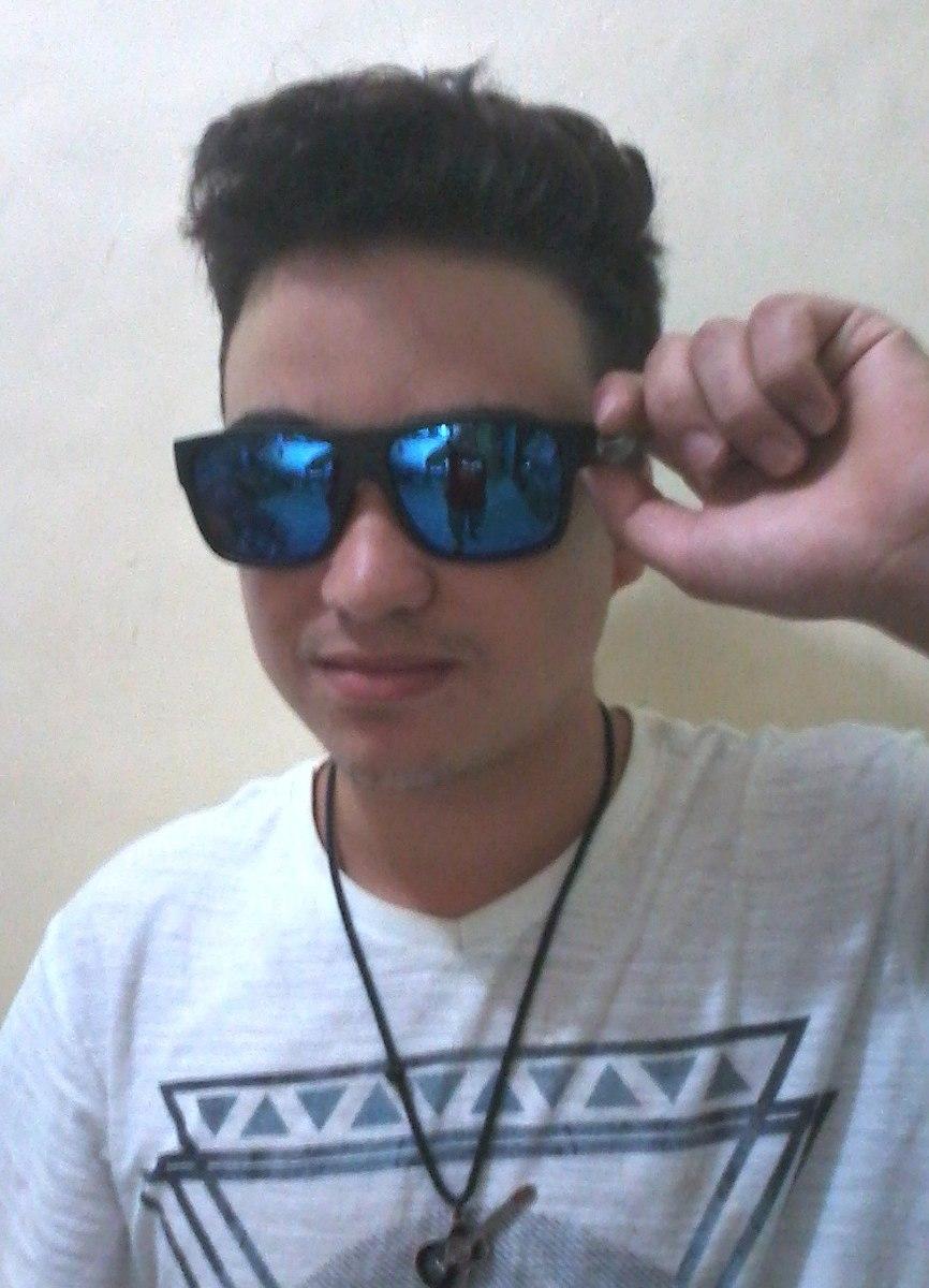 a4104e9c3 óculos de sol masculino espelhado azul estiloso frete grátis. Carregando  zoom.