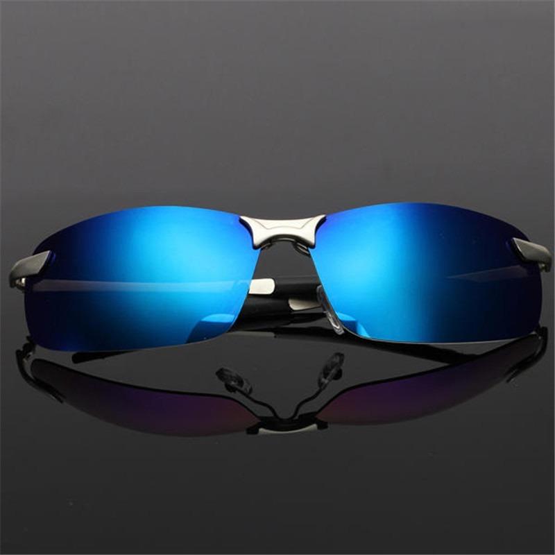 d050ed999 óculos de sol masculino esporte polarizado lentes espelhadas. Carregando  zoom.
