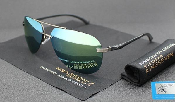 21e416fe1d2c0 Óculos De Sol Masculino Estilo Aviador Lente Azul Espelhada - R  110 ...