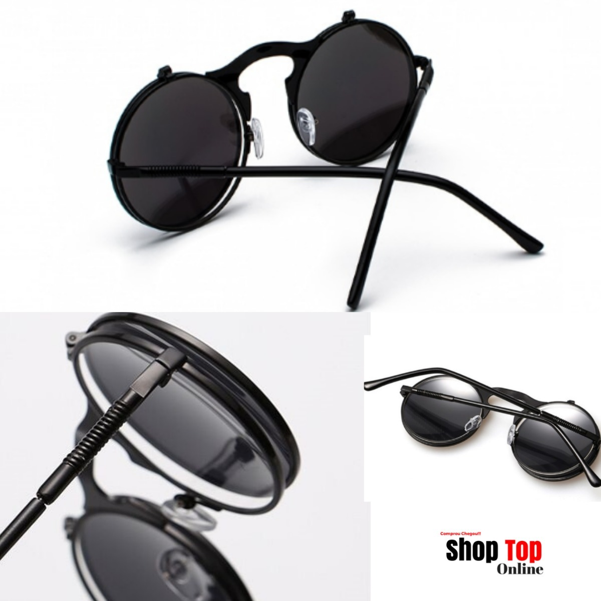 cbda59509 óculos de sol masculino feminino espelhado redondo atomic. Carregando zoom.
