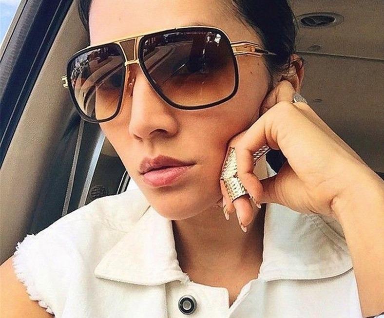 Óculos De Sol Masculino Feminino Moda 2019 Design Elegância - R  132 ... 2fe5552d94