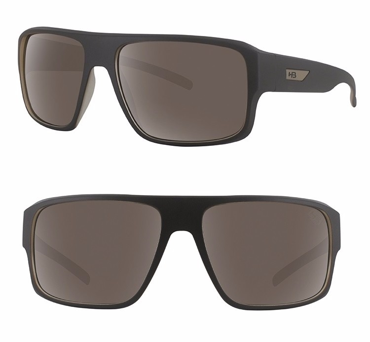 4c3d1eedc216e Óculos De Sol Masculino Hb Redback Matte Café Bege + Brinde - R  199 ...