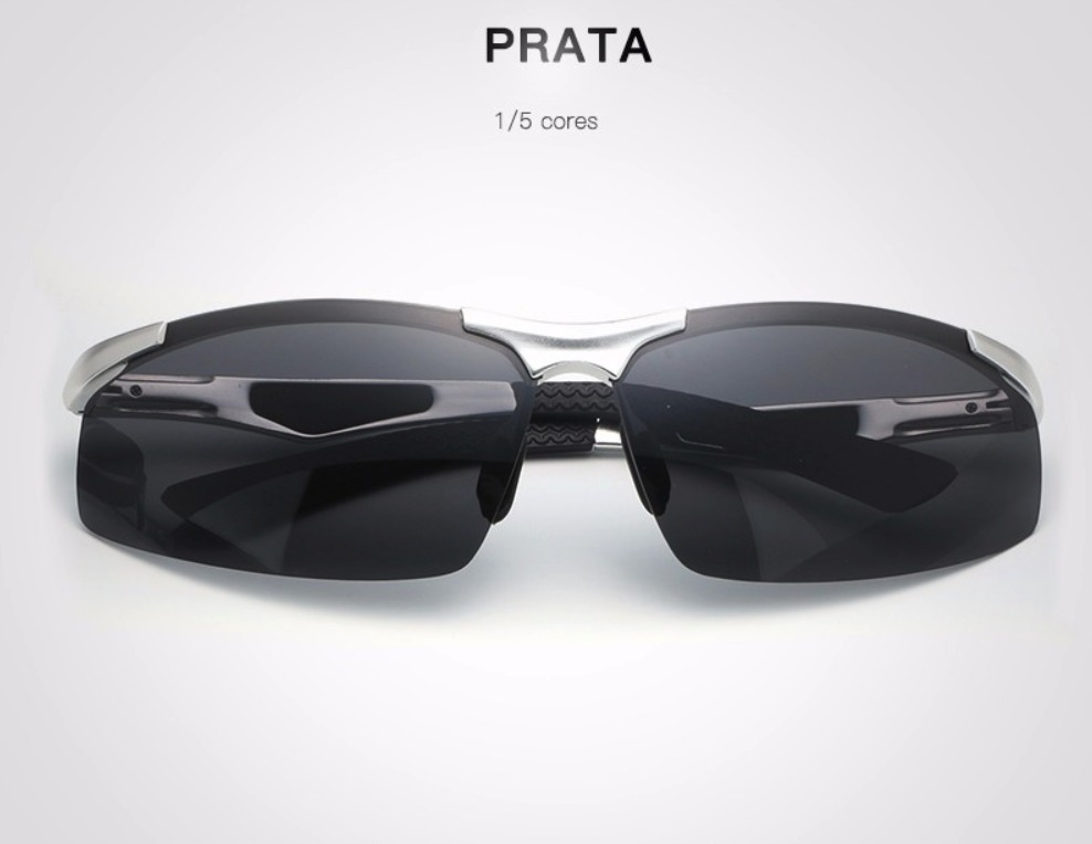 13aeb95a8960b Óculos De Sol Masculino Hd Crafter Prata Super Promoção Novo - R ...