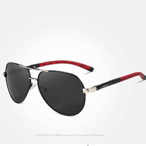 Óculos De Sol Masculino Lente Polarizada Uva Uvb Aviador K - R  149 ... 8d0dbf18c6