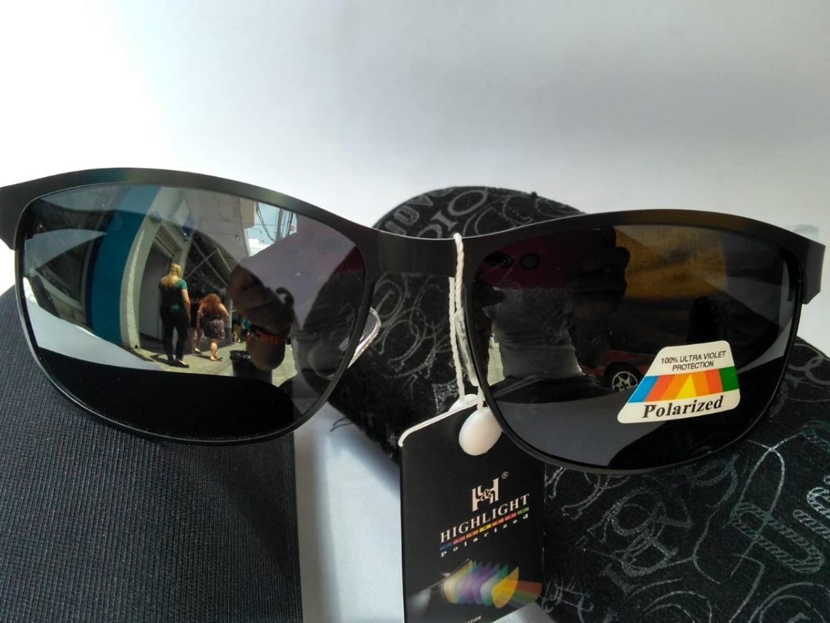92a2a08c78c20 Óculos De Sol Masculino Lente Preta Armação De Ferro - R  189,99 em ...