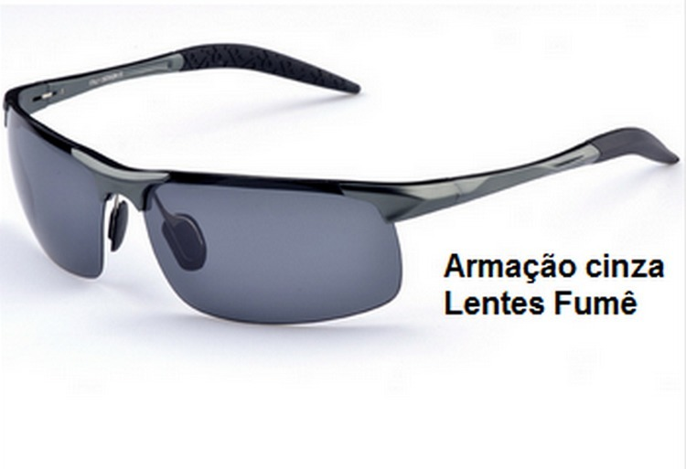 42f17e39b2f18 Oculos De Sol Masculino Lentes Polarizadas Armação Aluminio - R  121 ...