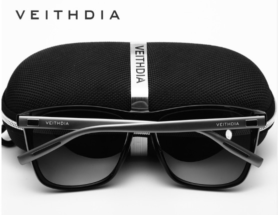 efd2d48984044 Óculos De Sol Masculino Polarizado Quadrado Veithdia Barato - R  120 ...