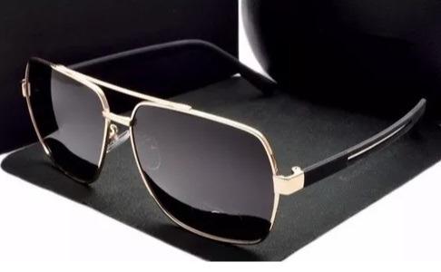 5607a33fb082e Óculos De Sol Masculino Polarizado Semi Quadrado Luxo Homem - R  149 ...
