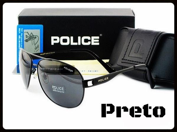 fa0b83eff9a02 Óculos De Sol Masculino Police Aviador Polarizado Proteção - R  149 ...