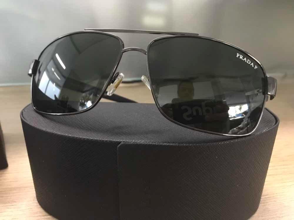 e335bb40042f2 Óculos De Sol Masculino Prada Lentes Verde G15 Polarizadas - R  299 ...