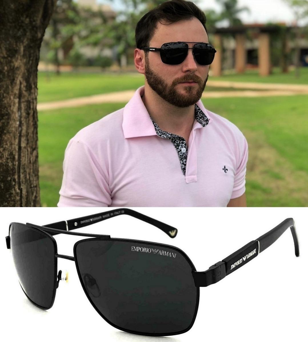 Oculos De Sol Masculino Premium Ea3071 Black Uv400 - R  98,00 em ... 6acac76126