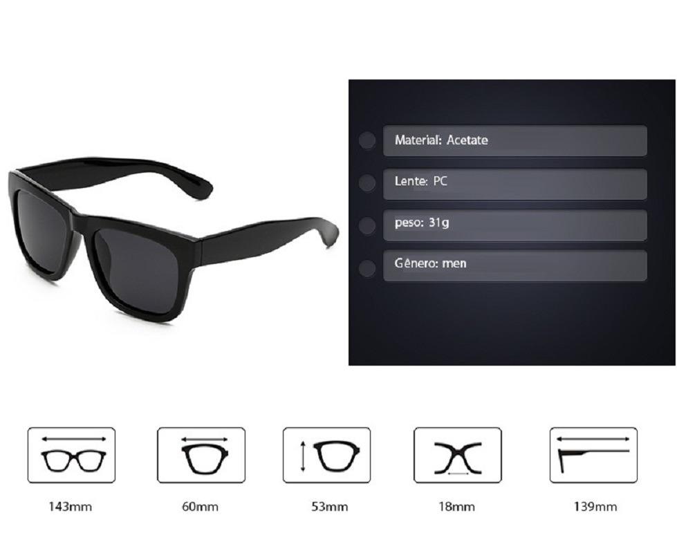 óculos de sol masculino quadrado polarizado vintage retro. Carregando zoom. 14cd5eccaf