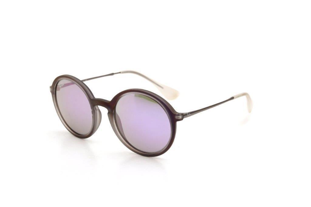 bf18e05f4f906 Óculos De Sol Masculino Ray Ban Acetato Espelhado Roxo - R  396