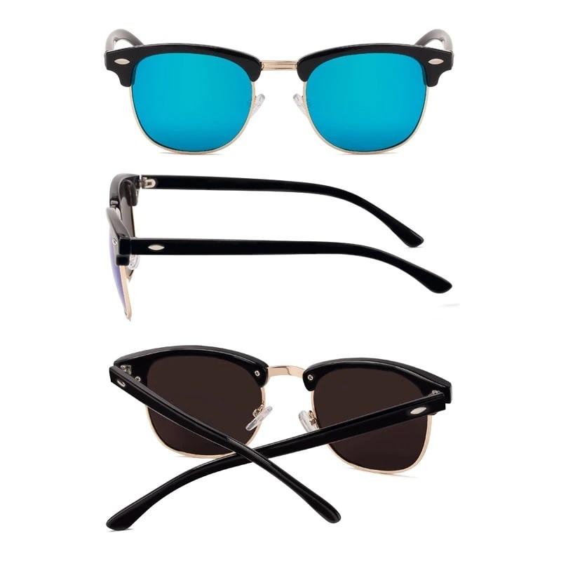 fd63d5f2ab568 oculos de sol masculino feminino splov - uv400 lente azul. Carregando zoom.
