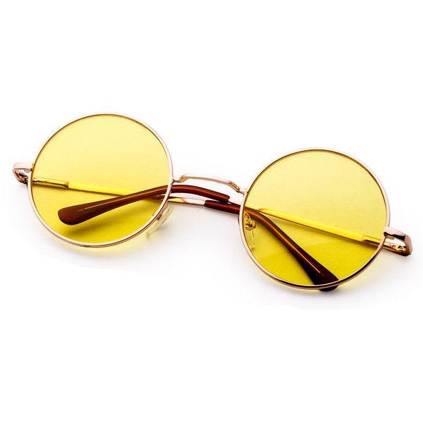 5af7854d1c98a Óculos De Sol Maxi Redondo Amarelo Retrô - Nightdrive - R  49,00 em Mercado  Livre