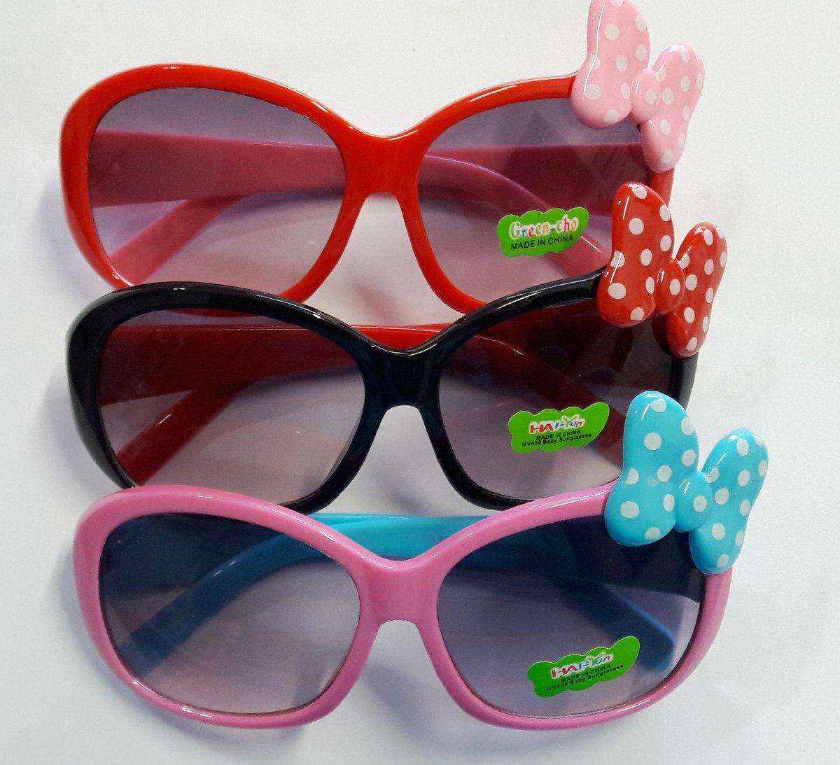 Oculos De Sol Menina Infantil Laço Minie Proteção Uv400 - R  69,49 ... fef3387847