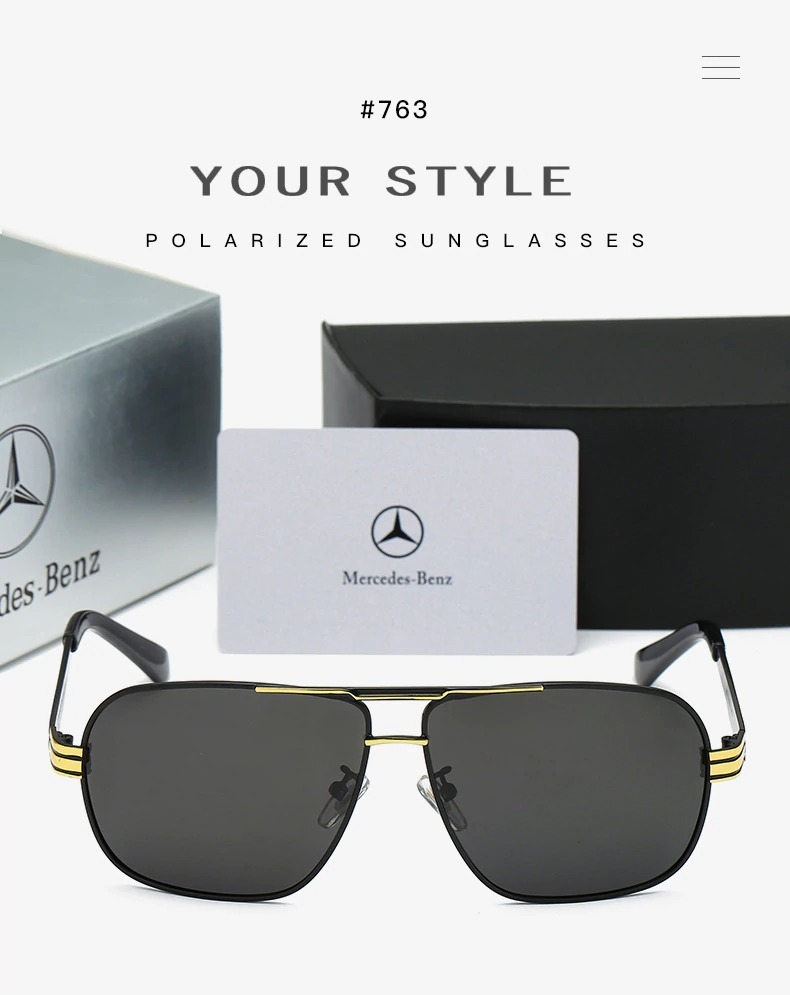 óculos de sol mercedes- benz edição especial aviador- prata. Carregando  zoom. bec57ba728
