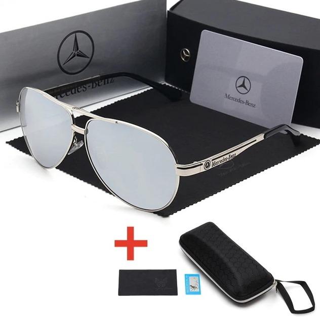 Óculos De Sol Mercedes-benz Metal Polarizado Uv400 Luxo - R  236,99 ... 67eabbb775