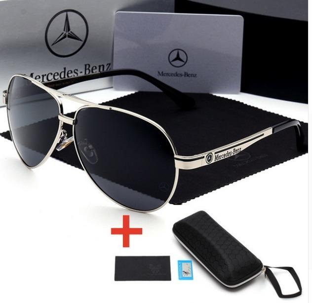 5cc6f2c9e9199 Óculos De Sol Mercedes Benz Metal Polarizado Uv400 Luxo - R  149,00 ...