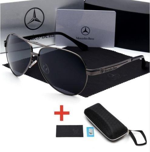 óculos de sol mercedes benz metal polarizado uv400  luxo