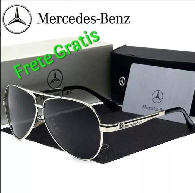Óculos De Sol Mercedes Benz Metal Polarizado Uv400 Luxo - R  199,00 ... d96caa98db