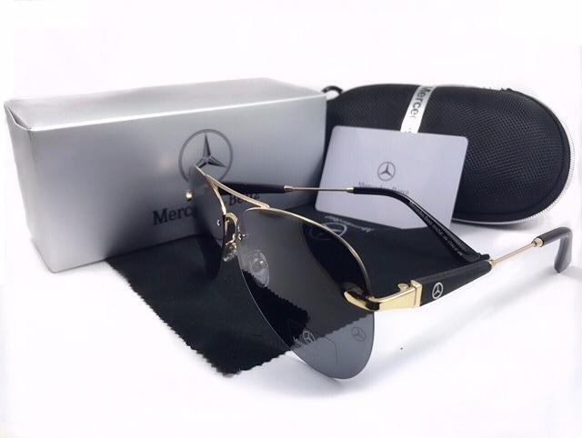 684de35c12d6b Óculos De Sol Mercedes Dourado Lente Polarizada Uv400 - R  149,00 em ...