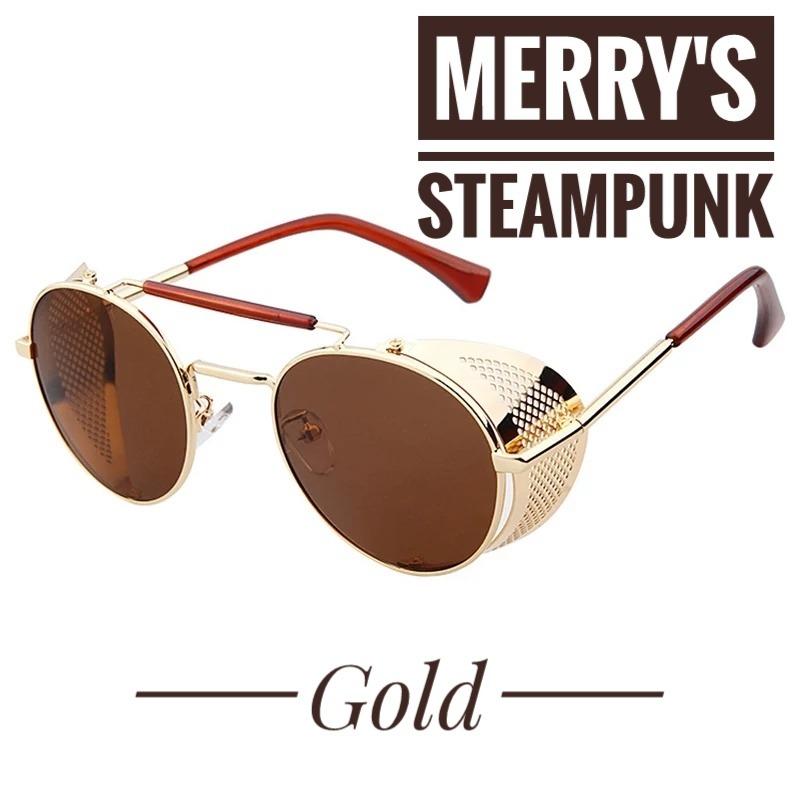 b1c075ef8439c Óculos De Sol Merry s Original   Modelo Steampunk - R  75,00 em ...