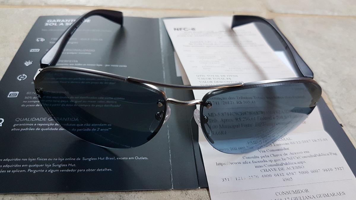 Óculos De Sol Metal Masc Prada Demi Sport Shiny 65 Original - R  949 ... 34fb4dc180