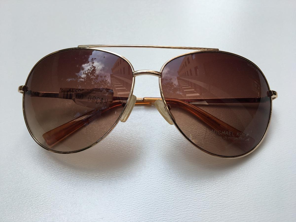 e26df43cb óculos de sol michael kors aro metal aviador novo original. Carregando zoom.