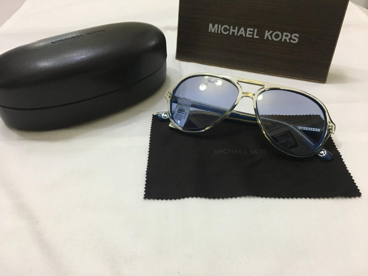 7fcaa24f6 óculos de sol   michael kors aviador acetato azul transparen. Carregando  zoom.