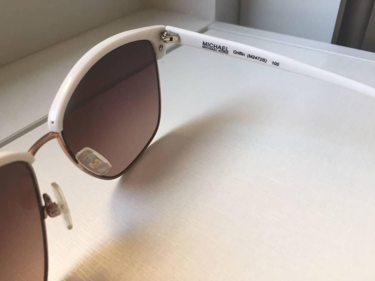 Óculos De Sol Michael Kors Branco Com Capa - Original - R  300,00 em ... 1c92ce96f6