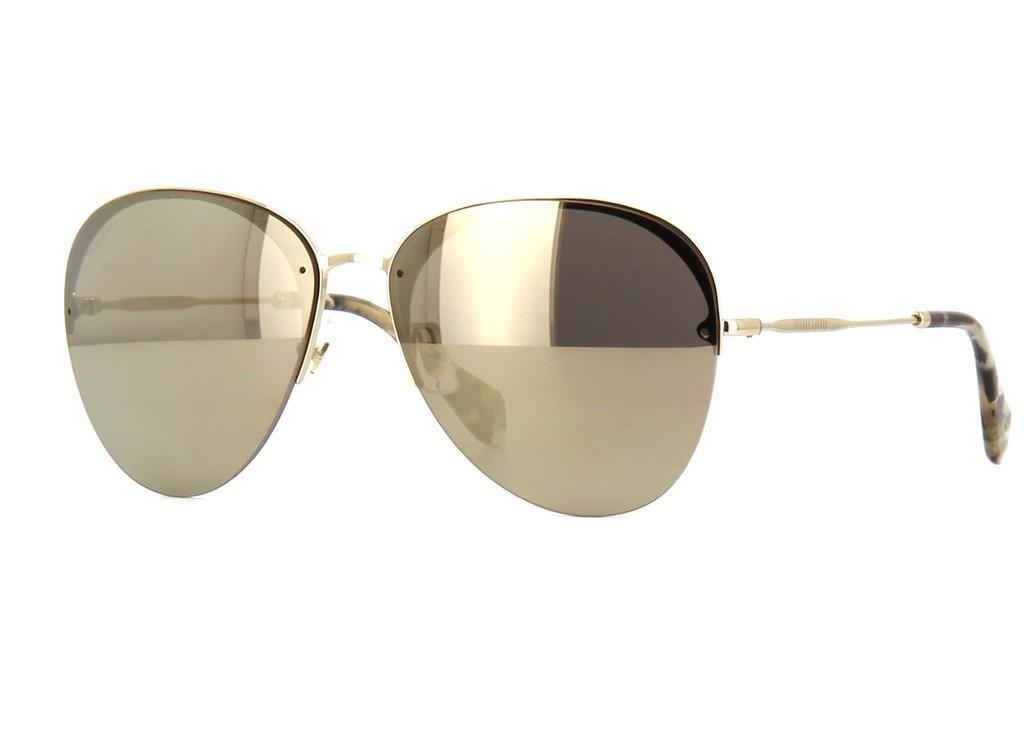 35e105fd29efd Óculos De Sol Miu Miu Mu53ps Znv1c0 - R  1.150,00 em Mercado Livre