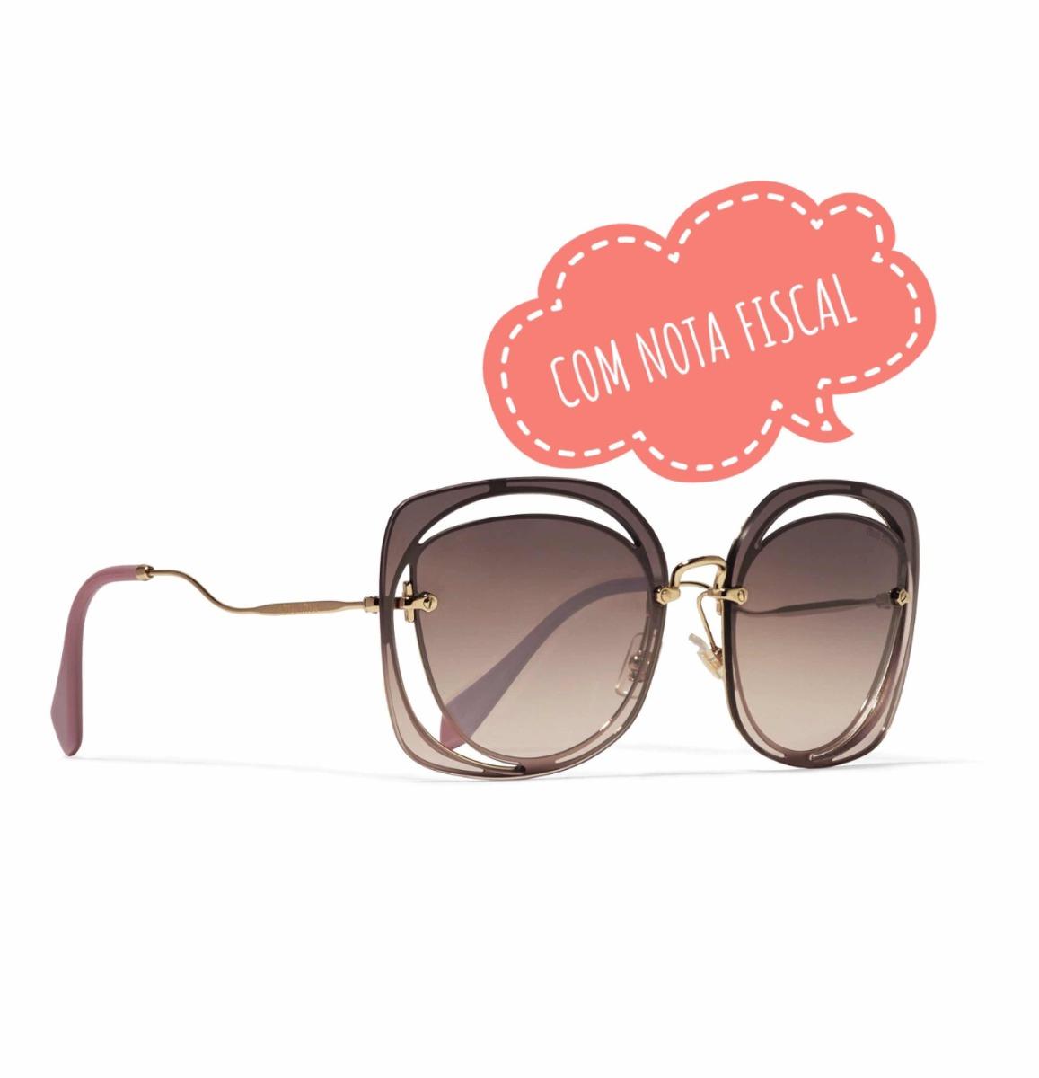 Óculos De Sol Miu Miu Original - R  1.200,00 em Mercado Livre 3c13d7baf9