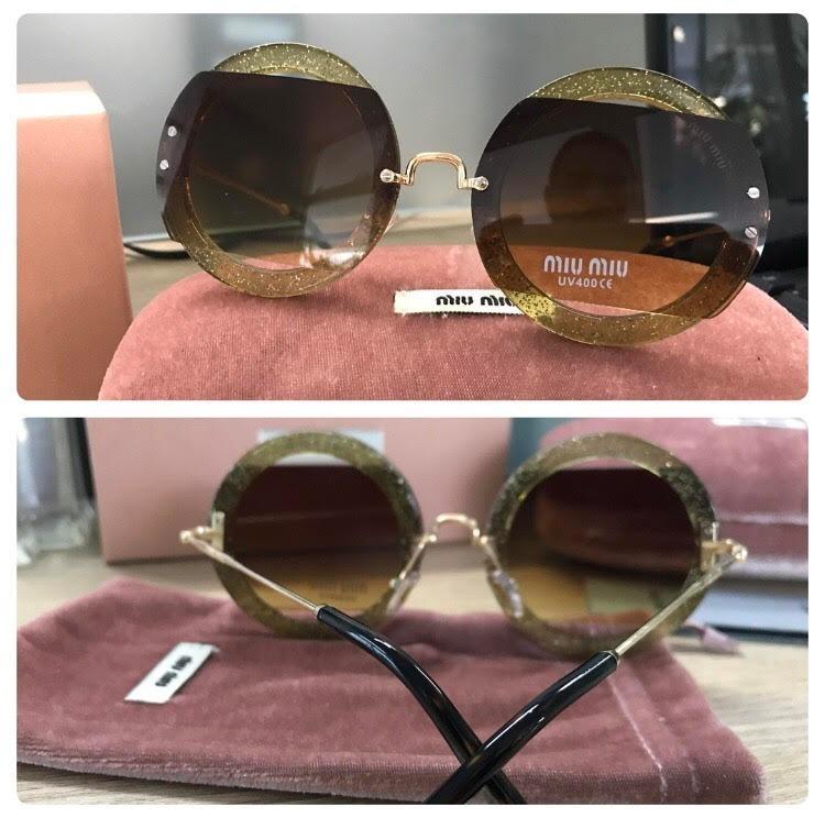80cedf6939767 Óculos De Sol Miu Mu06ss Round Redondo - R  250,00 em Mercado Livre