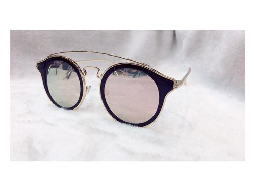 13af972fcaaa8 Óculos De Sol Moda Vintage Feminino   Redondo Cinza Degradê - R  42 ...